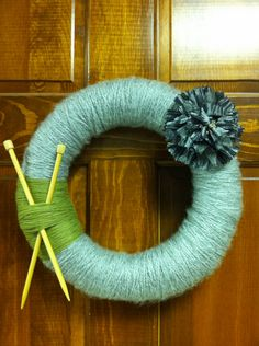 cute knit theme wreath for Mom!