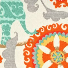 P/K Lifestyles Outdoor Menagerie Cayenne Fabric