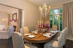 A formal dining area by the living room is perfect for dinner parties.  Source: Realtor.com