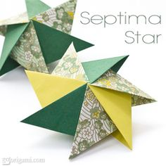 Learn how to make a 3D origami star!