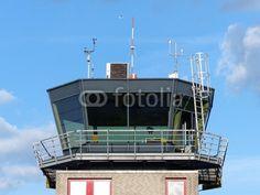 Die Plattform des Kontrollturm am Segelflugplatz in Oerlinghausen in Ostwestfalen-Lippe