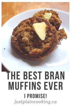 Janet's Yogurt Bran Muffins are light, moist, full of flavor, and quick to make. Healthy and delicious, they will be a new favourite. #muffins #bran #healthy #recipes #breakfast via @justplainmarie Muffin Pan Recipes, Healthy Muffin Recipes, Healthy Muffins, Healthy Baking, Baking Recipes, Healthy Yogurt, Baking Snacks, Savoury Baking, Baking Desserts