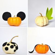 These tiny pumpkins are too little to carve, but that doesn't mean we can't add a bit of magic to them.