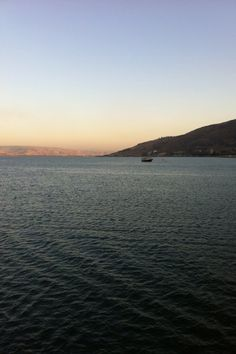 """Sunset over the Sea of Galilee, where Jesus walked on the water."" (via ""Where Jesus Walks"")"