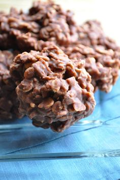 Gluten-free and dairy-free no-bake cookies... often called haystacks or cow pies