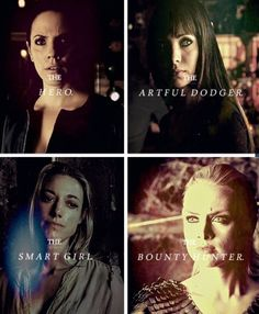 Girls of Lost Girl: Bo: The Hero, Kenzi: The Artful Dodger, Lauren: The Smart Girl & Tamsin: The Bounty Hunter