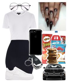 """""""Ready to go"""" by marleymal ❤ liked on Polyvore featuring Topshop, NIKE, Speck and Mercedes-Benz"""