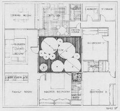 Hacienda House Plans with Center Courtyard | Shed Plans | Pinterest ...