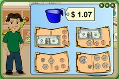 Money games - Free online money games for kids to learn counting money and making change. many other subjects as well.