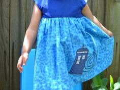 Doctor Who Tardis Police Box Applique Dress | Geek-a-bye Baby