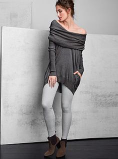 I actually ordered three of the VS Multi-way Tunic sweaters, and they are fantastically comfortable to bum around in but also chic enough to dress up.  #VS #VSFALL2013
