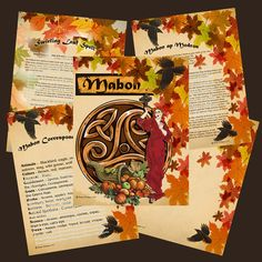 MABON Sabbat Ritual Spell Digital Download by MorganaMagickSpell