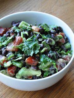 healthy avocado and black bean salad