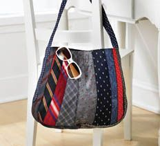 Recycled Necktie Tote Purse directions here is the link http://creativehomeartsclub.com/projects/articletype/articleview/articleid/1324/necktie-tote