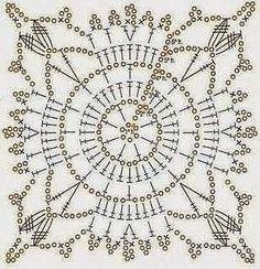 Crochet Mandala Shirt Doily Rug 70 Ideas For 2019 Crochet Edging Patterns, Granny Square Crochet Pattern, Crochet Blocks, Crochet Diagram, Crochet Squares, Crochet Granny, Crochet Doilies, Stitch Patterns, Doily Rug