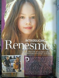 Renesmee (Mackenzie Foy) in US Weekly