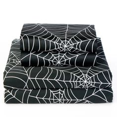 Spin your dreams in these spider-web bedsheets.