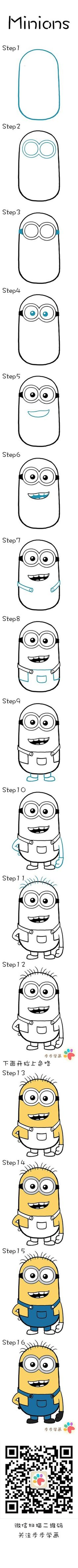 Learn how to draw Minions: