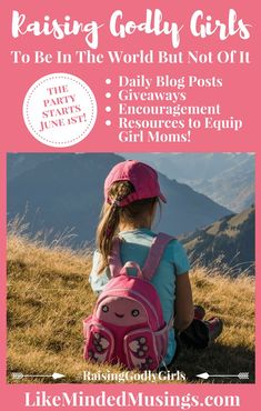 25 Bloggers, Girls and Girl Moms are coming together to share wisdom and talk about the tough topics that help you navigate parenting girls today Biblically. Did I  mention giveaways? Yes, there will be giveaways! Sign up to receive all of the details and more as we kick off this event on June 1st!! #christianparenting #girlmoms #tweengirlmoms #RaisingGodlyGirls #Biblical Parenting #parenting #parenthood #tweenparenting #tweenparents #christian