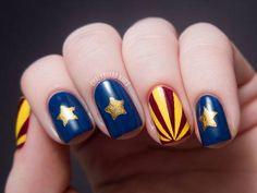 Nails Inspired By Arizona Flag