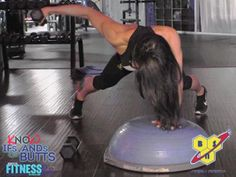 Create Shoulder Fullness: Rear Lateral Raise on Bosu Ball. In this episode, Amanda Latona demonstrates a real lateral raise using a Bosu ball. This is one of Amanda's favorite upper body exercises because it helps to round off the shoulders, and the Bosu ball adds an extra challenge. Check out the video and give it a try this week!