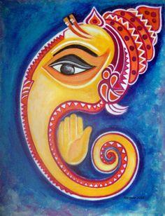 Conch Ganesha by manjulak.deviantart.com