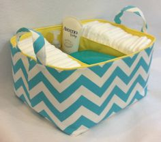 XL Diaper Caddy 13x11x7 Fabric Bin Fabric Storage by Creat4usKids, $56.00
