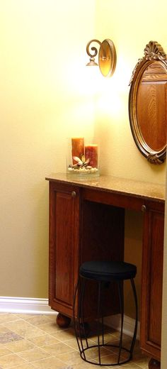 A dressing table need not take up a lot of space to be functional and pretty