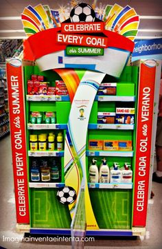 Celebrate Every Goal Display at Walgreens