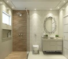 65 Most Popular Small Bathroom Remodel Ideas on a Budget in 2018 Bathroom Design Small, Bathroom Layout, Bathroom Interior, Modern Bathroom, Bad Inspiration, Bathroom Inspiration, Ideas Baños, Toilet Design, Small Apartments