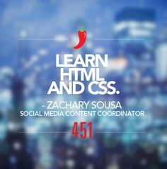 """We're sharing our #451Resolutions for 2015.   Resolution of the Day:   """"Learn HTML and CSS.""""  - Zachary Sousa, Social Media Content Coordinator"""