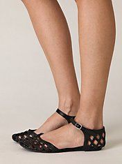 Lattice Mary Jane Sandal by Jeffrey Campbell $98http: They dont have them in Black anymore =( //www.freepeople.com/shoes-sandals/lattice-mary-jane-sandal/