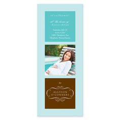 Personalize the baby shower invitations by incorporating the Mom-To-Be's photo! The party is all about her and her impending little one anyway, right?!