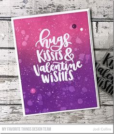 Stamps: Valentine Wishes Die-namics: A2 Stitched Rectangle STAX set 2, A2 Rectangle STAX set 1 Jodi Collins #mftstamps