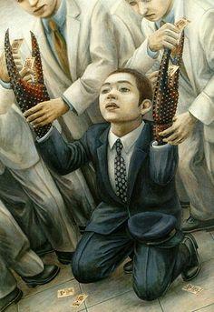 【画像あり】人間が物と一体化した絵で有名な石田徹也の作品が海外サイトに取り上げられる : 暇人\(^o^)/速報 - ライブドアブログ
