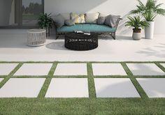 ITT Ceramic - 2 cm thickness for terraces Ceramic Floor Tiles, Tile Floor, Porcelain Floor, Outdoor Tiles, Terrazzo, Tile Design, Outdoor Living, Flooring, Rustic