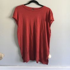 Free people top! Worn and washed once! Super cute and light weight! Rayon and linen blend! Free People Tops