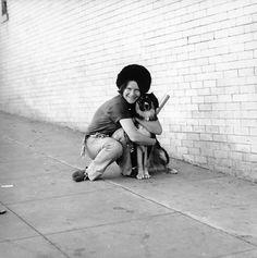Janis Joplin and dog