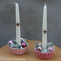 Christmas Decorations, Candles, Diy, Christmas, Bricolage, Candy, Do It Yourself, Candle Sticks, Homemade