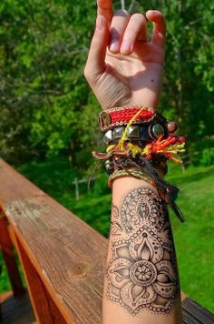 It's that hippie life. But seriously... can we just take a moment to appreciate how frickin sick that tattoo.