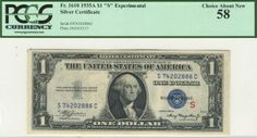 This experimental silver certificate is centered far better than your average high grade example. And this piece is free of the dark paper that makes so many other similar notes unattractive.