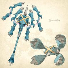 Pokeapon No. 376 - Mega Metagross. #pokemon #megametagross #metagross #磁気爪の槍 #pokeapon