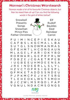 word search puzzle for kids christmas Christmas Puzzle, Christmas Words, Kids Christmas, Xmas, Christmas Activities For Kids, Christmas Party Games, Holiday Fun, Class Activities, Christmas Templates