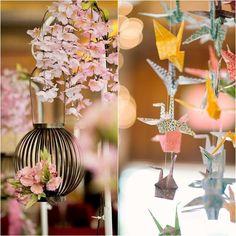 montage photo decoration mariage japonais