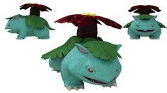 venusaur pokemon blender 3d