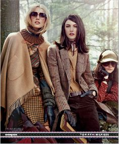 Lest anyone doubt the influence of BBC's recent tv hits in fall fashion this year: that girl on the right is wearing a deerstalker cap. Tommy Hilfiger, fall 2012