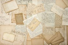 Old handwritings, vintage postcards by LiliGraphie on @creativemarket