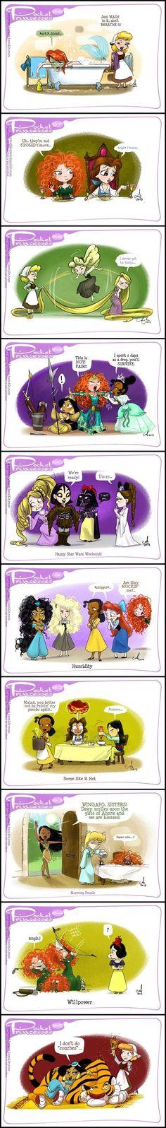 Comique princesses disney. N°2