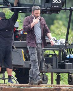 Ben Affleck on the set of Triple Frontier