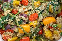The Garden Grazer: Rainbow Roasted Veggies with Quinoa
